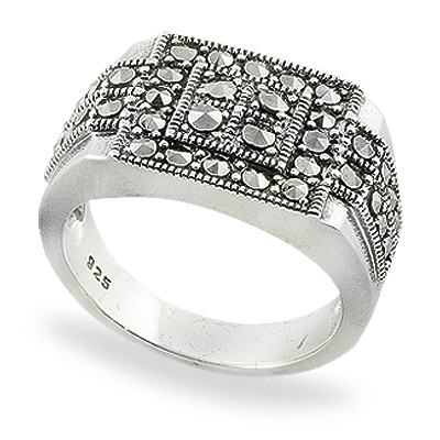 Marcasite jewelry ring HR0759 1