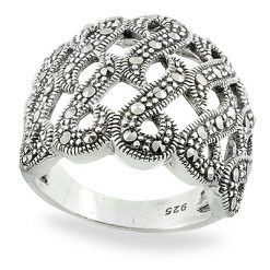Marcasite jewelry ring HR0766 1