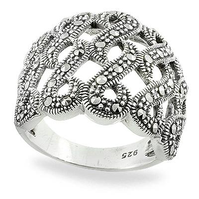 Marcasite jewelry ring HR0766 1