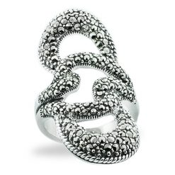 Marcasite jewelry ring HR0801 1