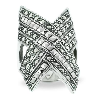 Marcasite jewelry ring HR0802 1