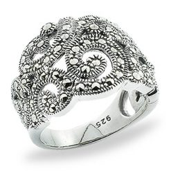 Marcasite jewelry ring HR0804 1