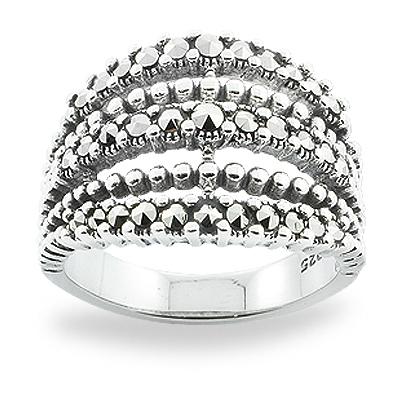 Marcasite jewelry ring HR0819 1