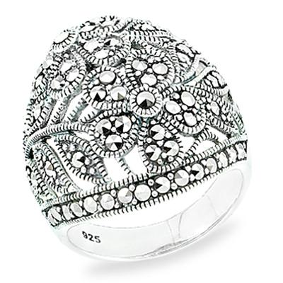 Marcasite jewelry ring HR0863 1