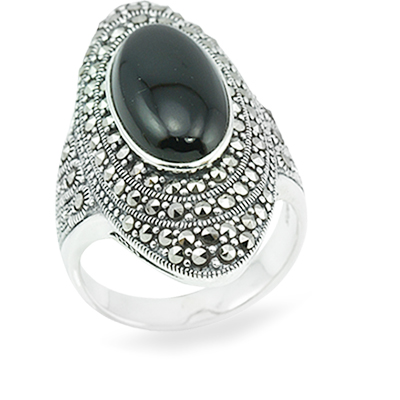 Marcasite jewelry ring HR0877 1