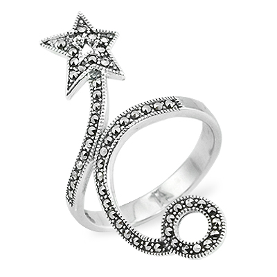 Marcasite jewelry ring HR0880 1