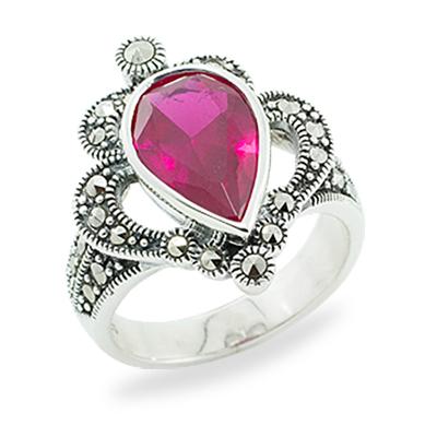 Marcasite jewelry ring HR0899 1