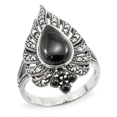Marcasite jewelry ring HR0924 1