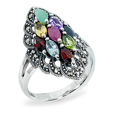Marcasite jewelry ring HR0928 1