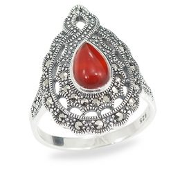 Marcasite jewelry ring HR0946 1