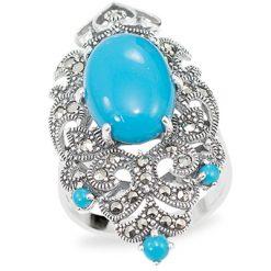 Marcasite jewelry ring HR0947 1