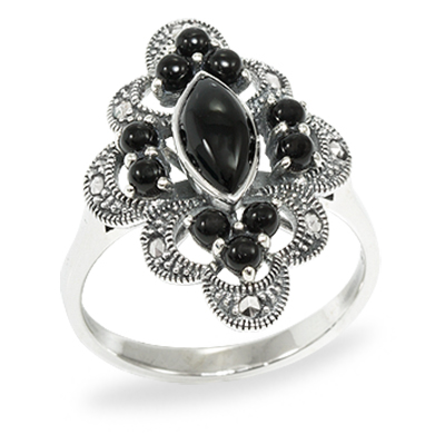 Marcasite jewelry ring HR0955 1