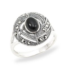 Marcasite jewelry ring HR0969 1