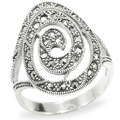 Marcasite jewelry ring HR0975 1