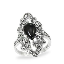 Marcasite jewelry ring HR0980 1
