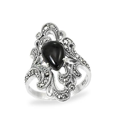 Marcasite jewelry ring HR0980 1