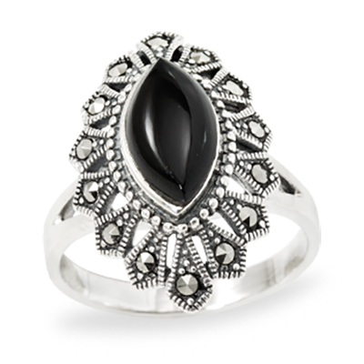 Marcasite jewelry ring HR0988 1