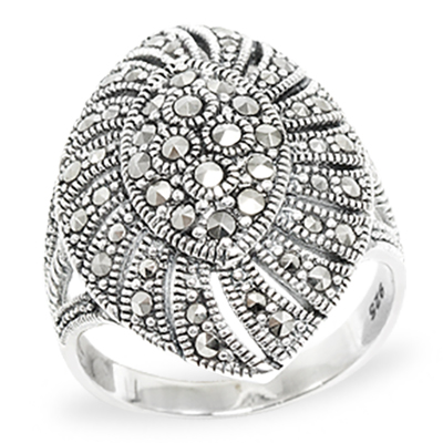 Marcasite jewelry ring HR0989 1