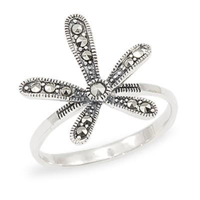 Marcasite jewelry ring HR1001 1