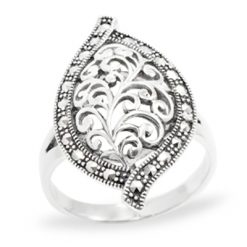 Marcasite jewelry ring HR1005 1