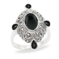 Marcasite jewelry ring HR1011 1