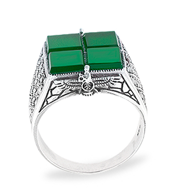 Marcasite jewelry ring HR1013 1