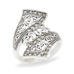 Marcasite jewelry ring HR1015 1