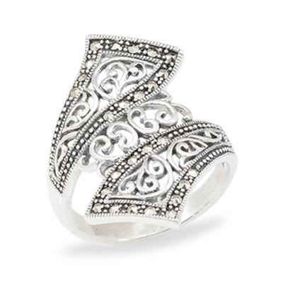 Marcasite jewelry ring HR1015 1