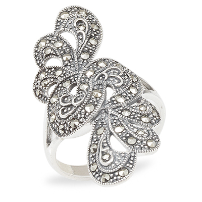 Marcasite jewelry ring HR1020 1
