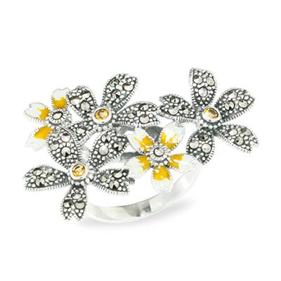 Marcasite jewelry ring HR1024 1