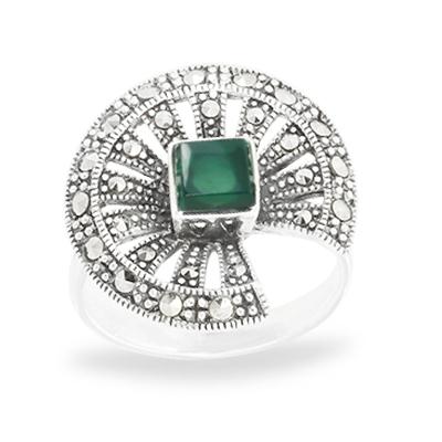 Marcasite jewelry ring HR1034 1