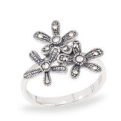 Marcasite jewelry ring HR1036 1