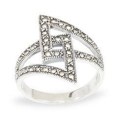 Marcasite jewelry ring HR1037 1