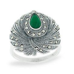 Marcasite jewelry ring HR1039 1