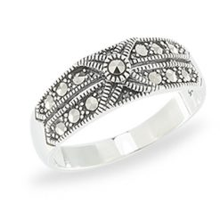 Marcasite jewelry ring HR1046 1