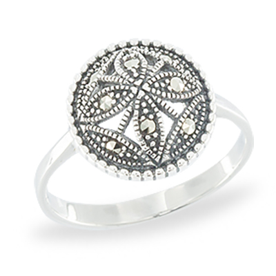 Marcasite jewelry ring HR1056 1