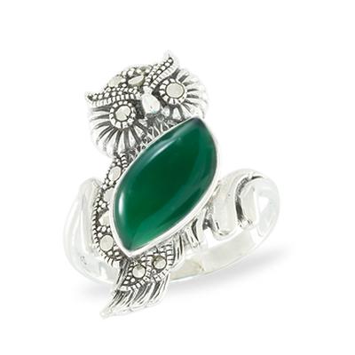Marcasite jewelry ring HR1057 1