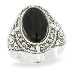 Marcasite jewelry ring HR1058 1