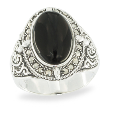 Marcasite jewelry ring HR1058 1