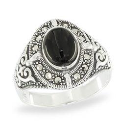 Marcasite jewelry ring HR1059 1
