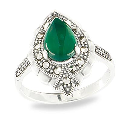 Marcasite jewelry ring HR1064 1