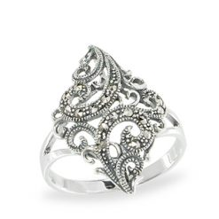 Marcasite jewelry ring HR1074 1