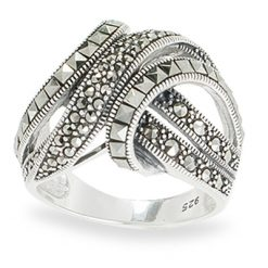 Marcasite jewelry ring HR1076 1