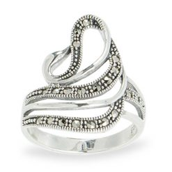 Marcasite jewelry ring HR1083 1