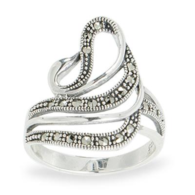 Marcasite jewelry ring HR1083 1