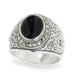 Marcasite jewelry ring HR1085 1