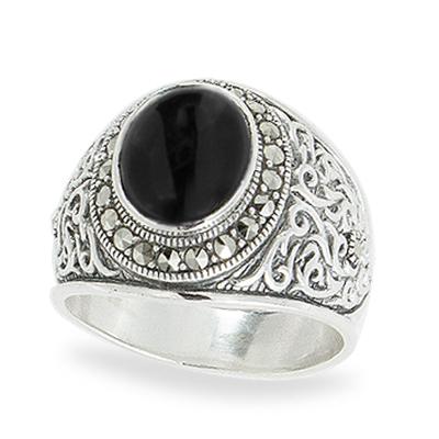 Marcasite jewelry ring HR1085 1