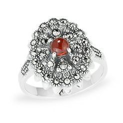 Marcasite jewelry ring HR1093 1