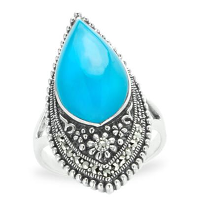 Marcasite jewelry ring HR1096 1