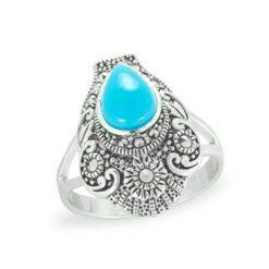 Marcasite jewelry ring HR1100 1